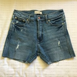 Gap High Rise Distressed Shorts